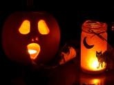 halloween lantern and lights